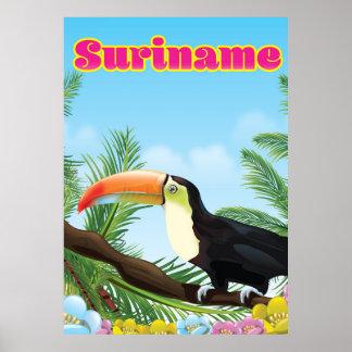 Suriname sul - poster de viagens americano do