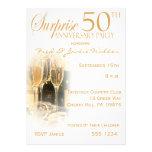 Surpreenda 50th convites da festa de aniversário