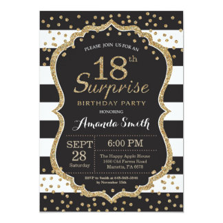 Surpreenda o 18o convite do aniversário. Brilho do