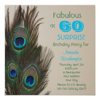 Surpreenda o 60th convite de aniversário fabuloso