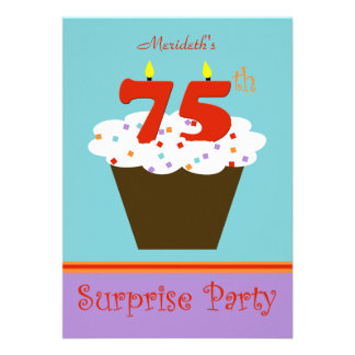 Surpreenda o 75th convite de aniversário