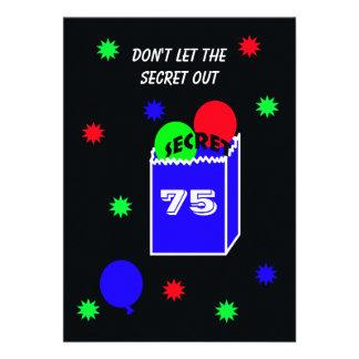 Surpreenda o 75th convite de aniversário -- SEGRED