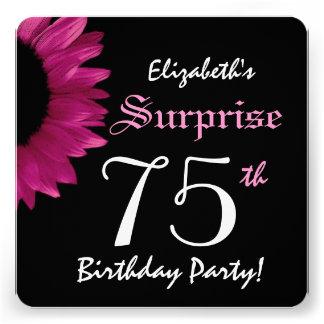 SURPREENDA o 75th girassol A10C da festa de aniver Convite Personalizado