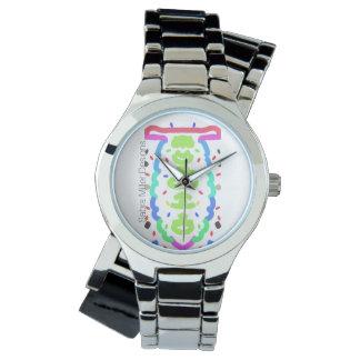 Surpresa do relógio da pulseira do cromo