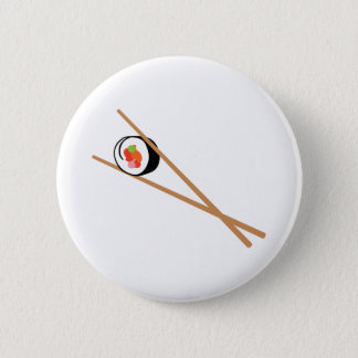 Sushi e Chopsticks Bóton Redondo 5.08cm