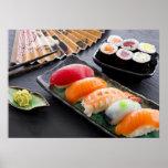 Sushi e rolos impressão