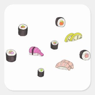 Sushi e Sashimi Adesivo Quadrado