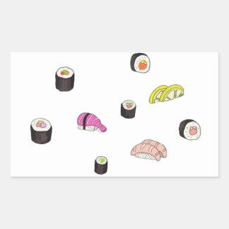 Sushi e Sashimi Adesivo Retangular