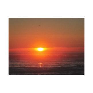 Suspiro do por do sol impressão de canvas envolvida