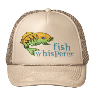 Sussurro aos peixes! Chapéu da pesca do pescador Boné