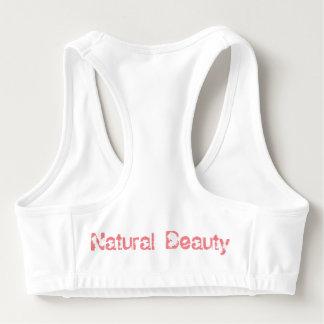 Sutiã Esportivo A ioga natural da beleza de PrettyinPink ostenta o