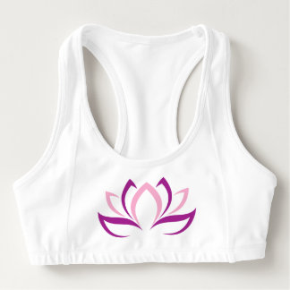 Sutiã Esportivo Abstrato da flor de Lotus