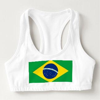 Sutiã Esportivo Bandeira nacional de Brasil, cor exata da
