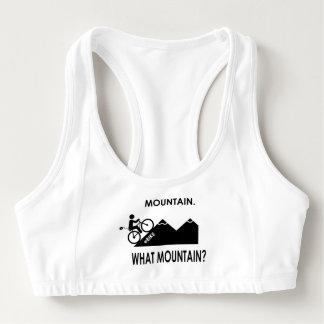 """Sutiã Esportivo """"Montanha. Que montanha?"""" ostenta sutiãs"""