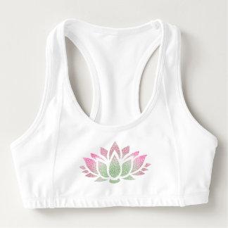 Sutiã Esportivo O Alo tranquilo das mulheres da flor de Lotus da