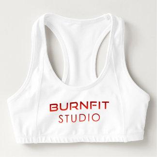 Sutiã Esportivo O estúdio de BurnFit ostenta o sutiã