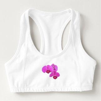 Sutiã Esportivo Orquídeas cor-de-rosa