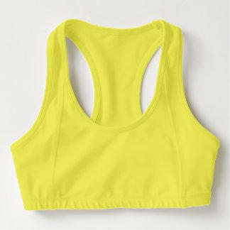 Sutiã Esportivo Os esportes sutiã das mulheres, amarelo do néon