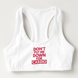 Sutiã Esportivo Para baixo para cardio- citações engraçadas do Gym
