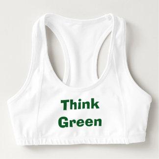 Sutiã Esportivo Sutiã dos esportes do pense verde