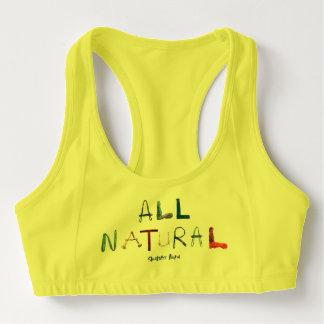 Sutiã Esportivo Todo o natural - o amarelo ostenta o sutiã