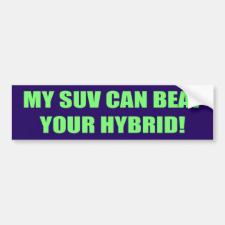 SUV bate seu autocolante no vidro traseiro híbrido Adesivo