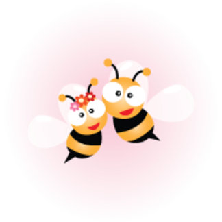 Bumble Bee And Flower Pattern