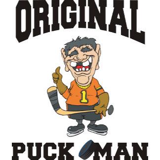 Funny Hockey Original Puck Man T-Shirt