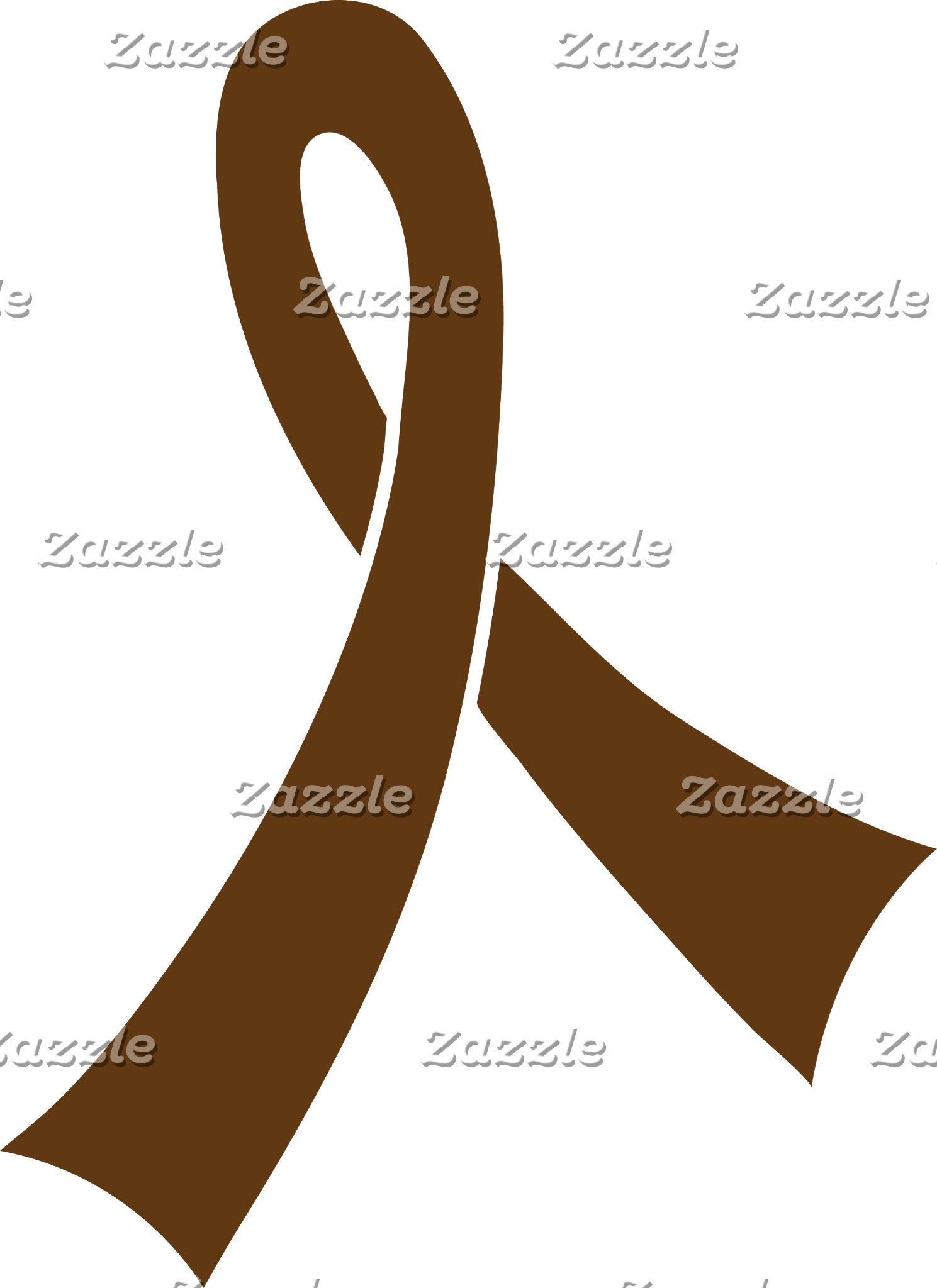 2 Brown Ribbon
