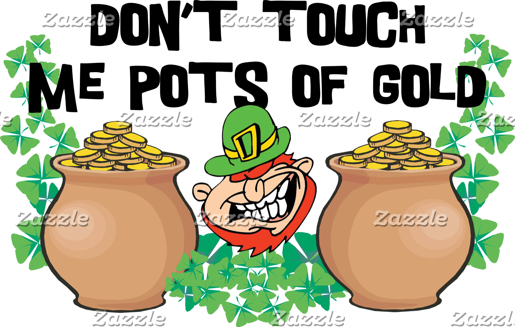 Irish - Don't Touch Me Pots Of Gold Women's Tees