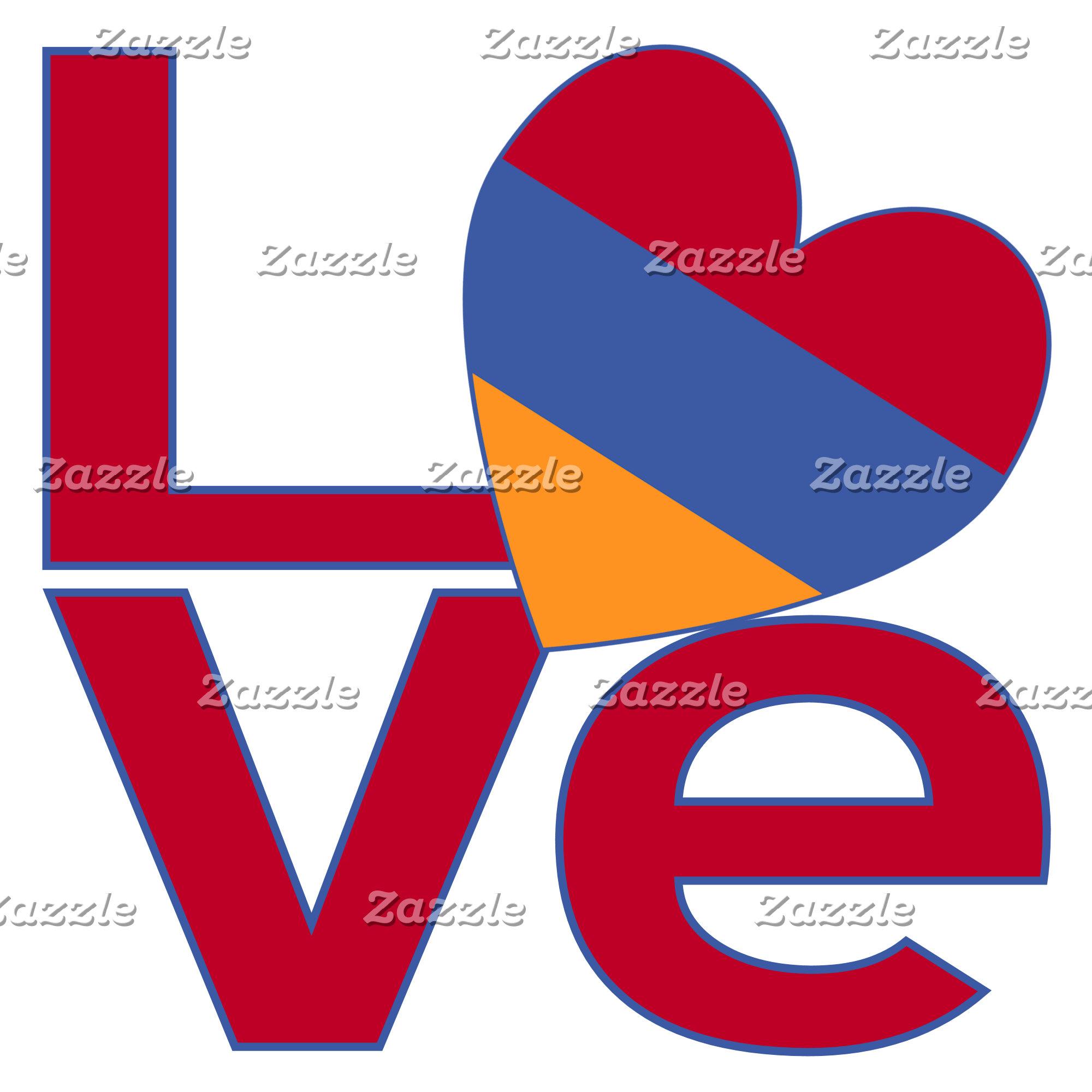 Armenian Red LOVE Flag