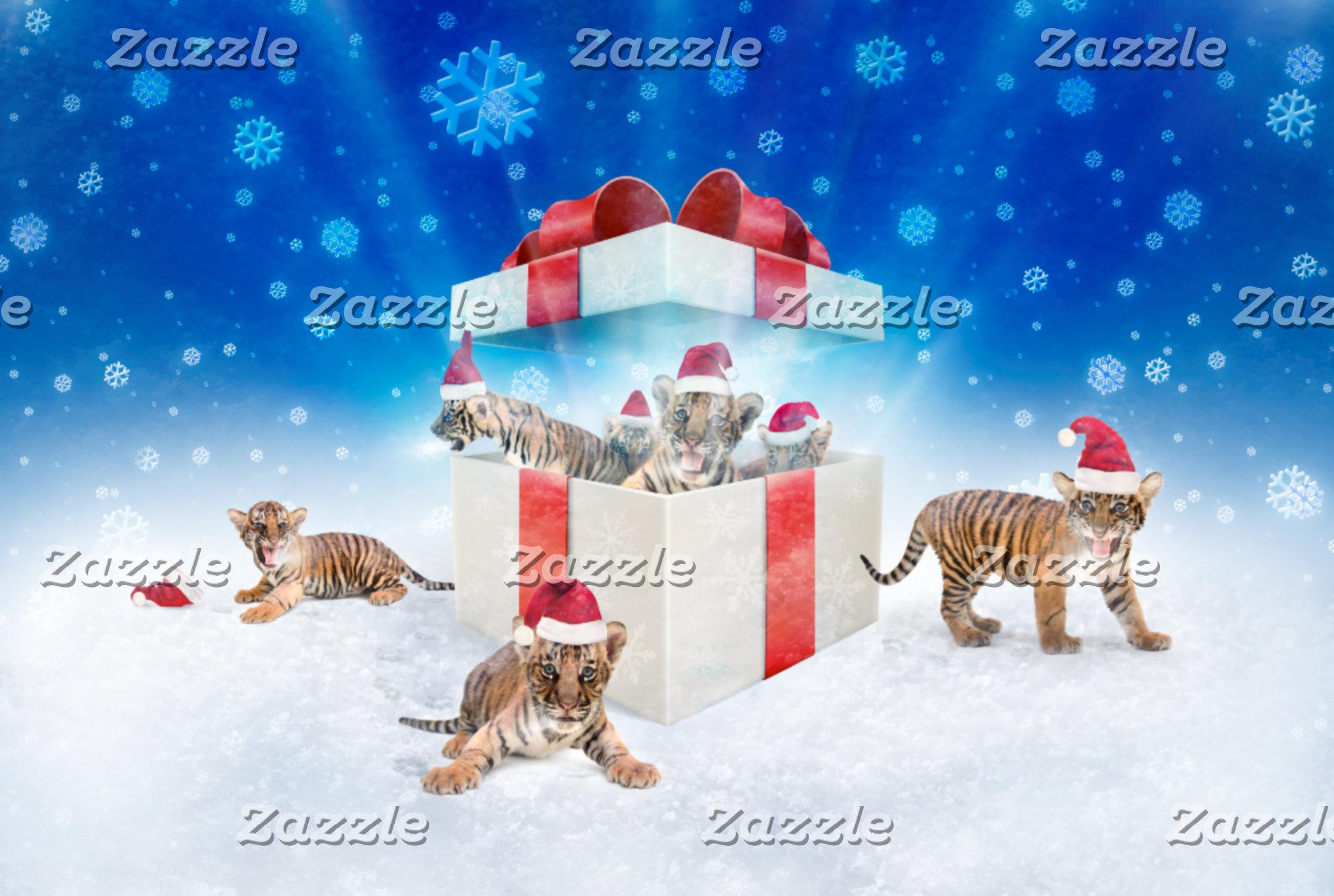 ► Cute Christmas Tigers