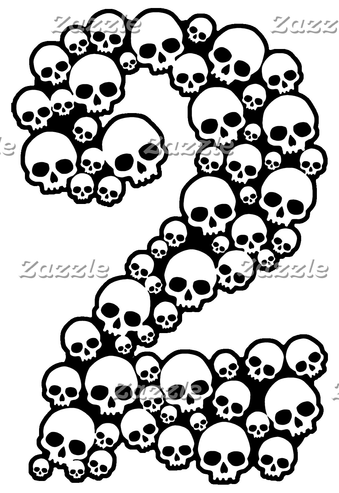 Gothic Skull Numbers