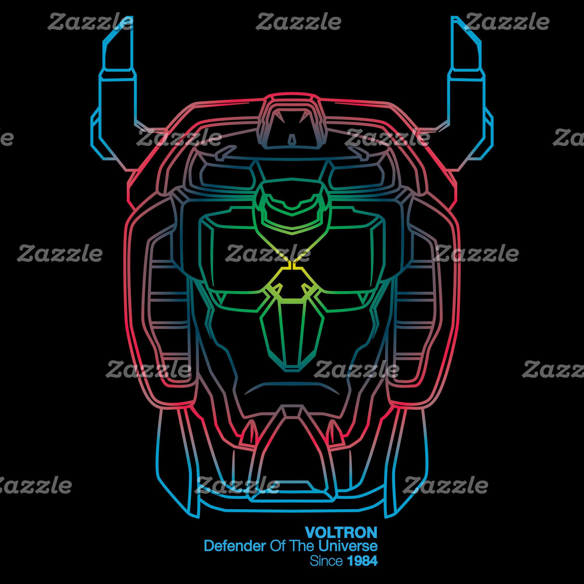 Voltron   Pilot Colors Gradient Head Outline