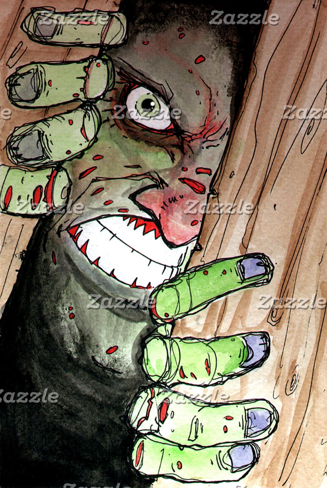 zombie breaking in