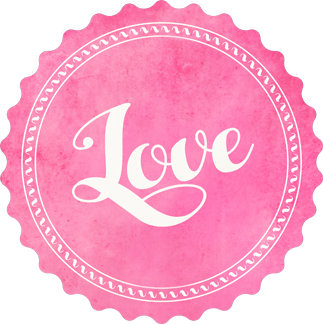 Vintage love typography