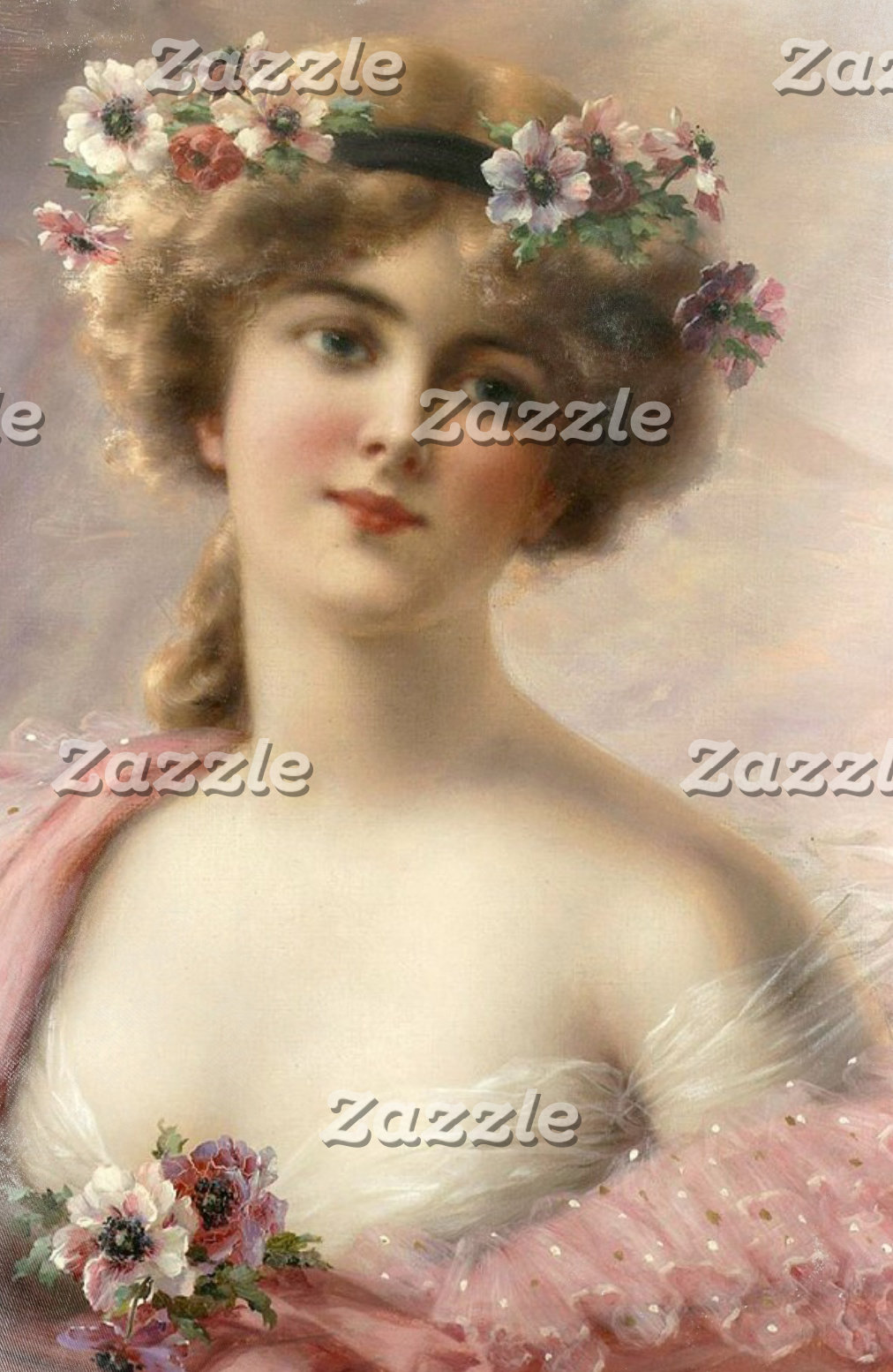 Victorian Woman With Flowers In Her Hair