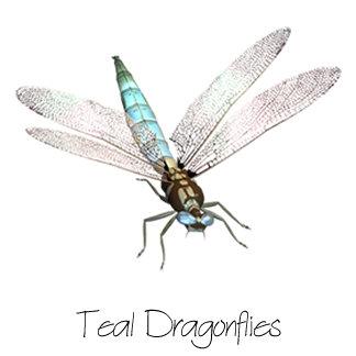 Teal Dragonflies