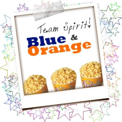 G. Blue Orange White