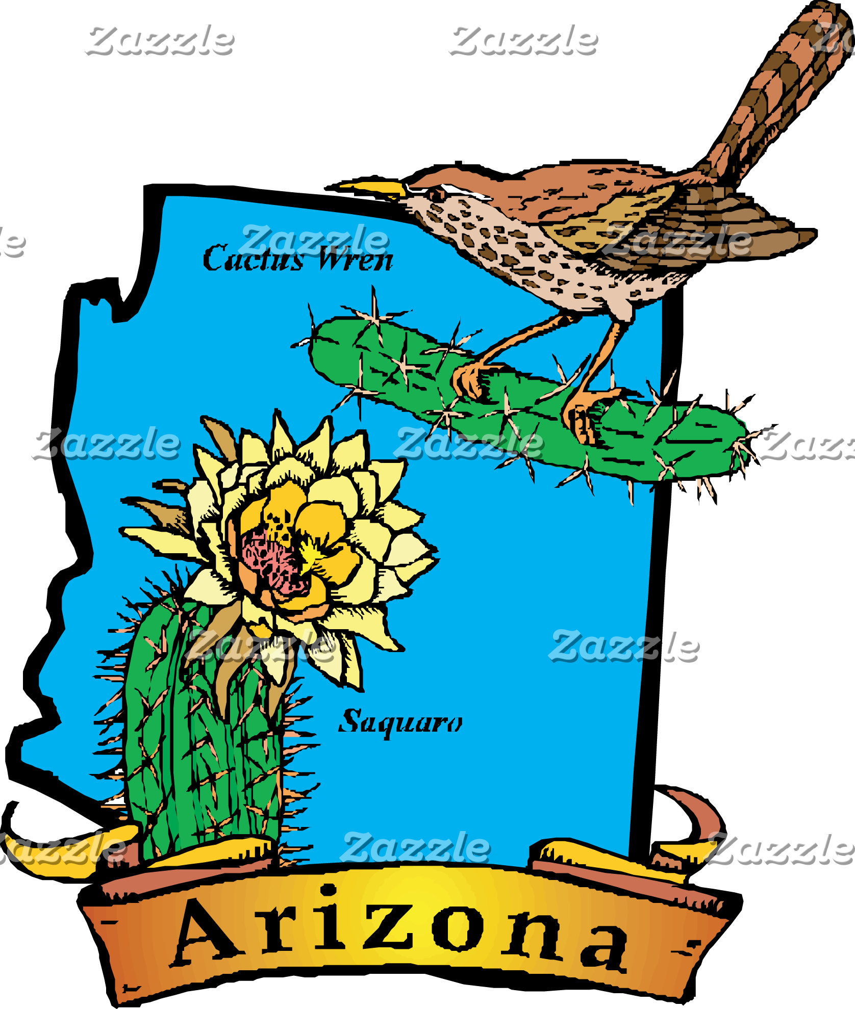 States Map Motto Art