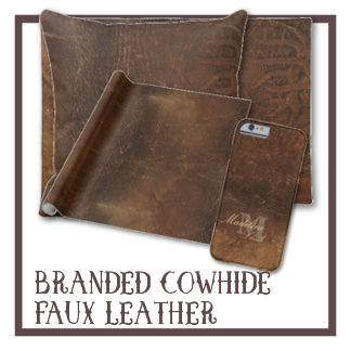Branded Cowhide Faux Leather