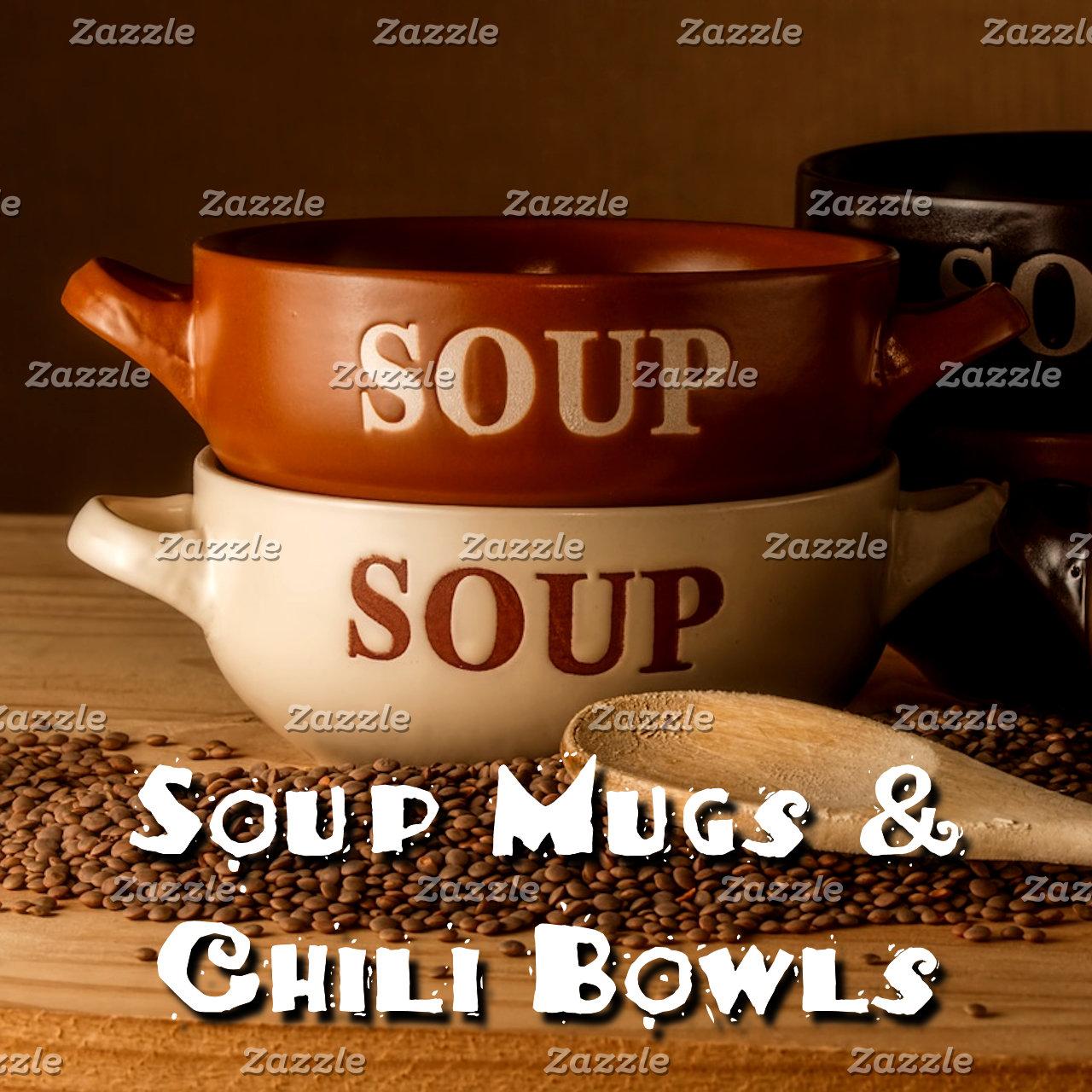 Dining~Soup Mugs & Chili Bowls