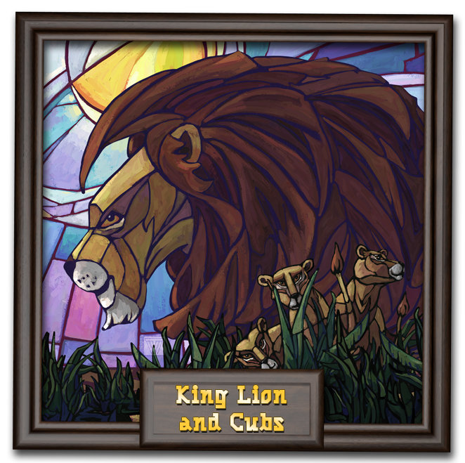 King Lion and Cubs