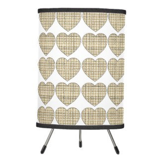 Sepia Hearts Gingham