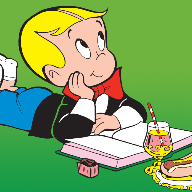 Richie Rich Studying