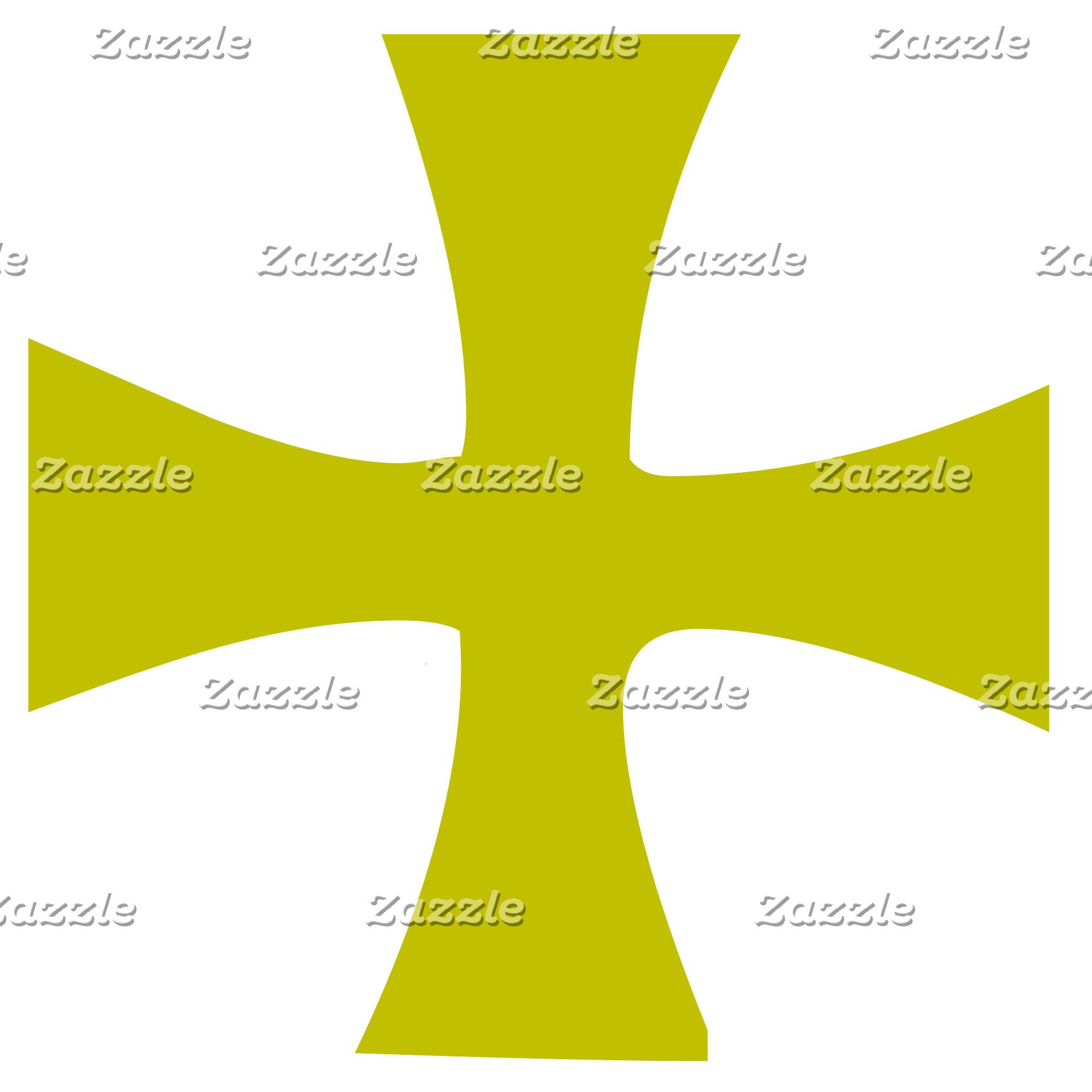Faux Gold Byzantine Christian Cross