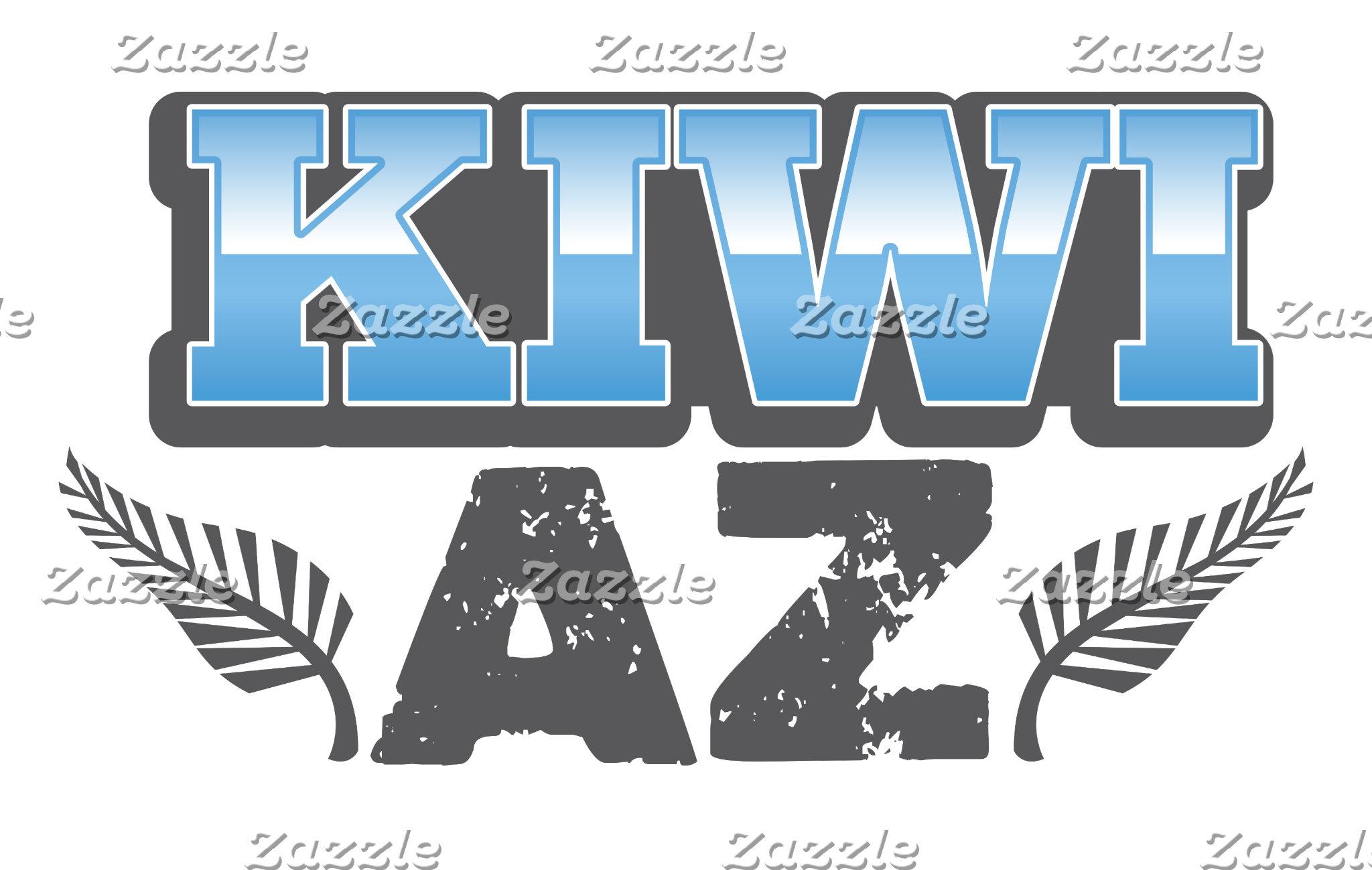 Kiwi az in blue and silver