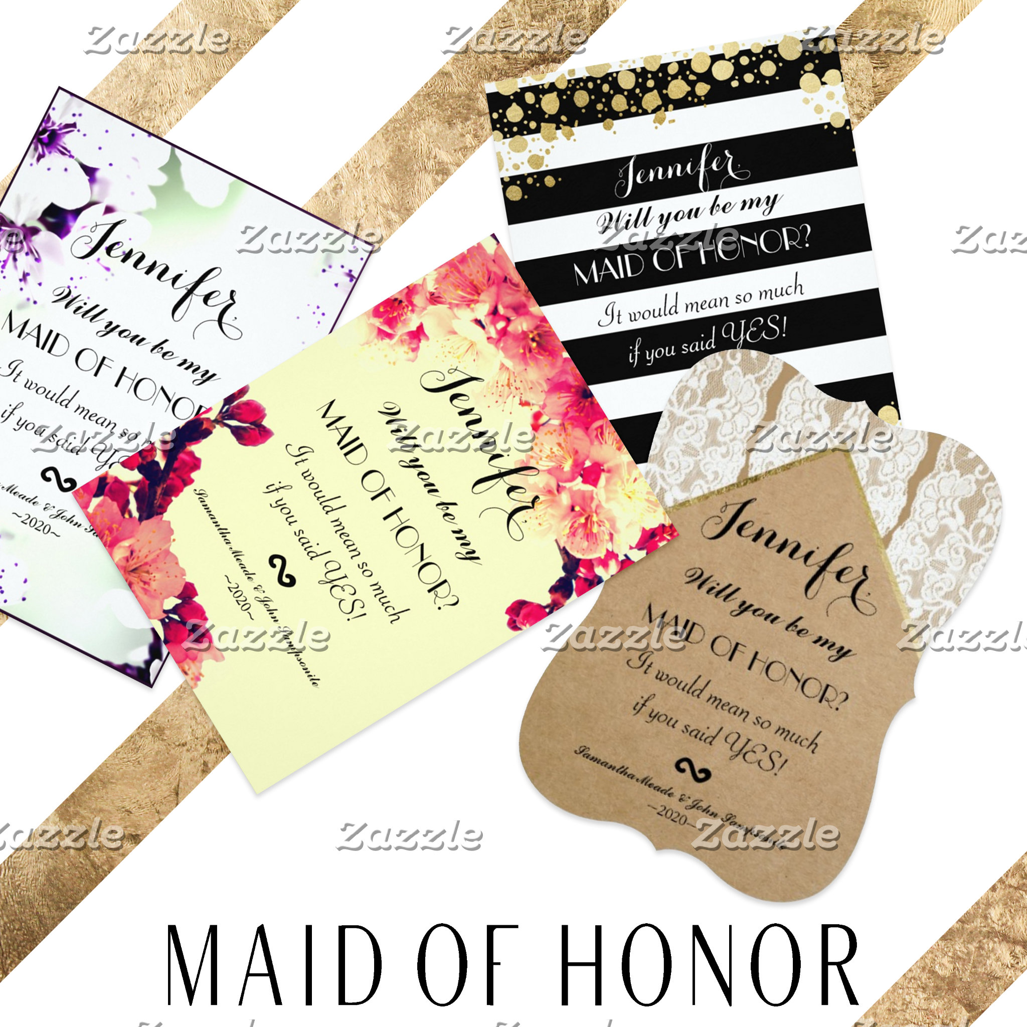 Maid of Honor Invitations