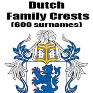 Dutch Family Crests