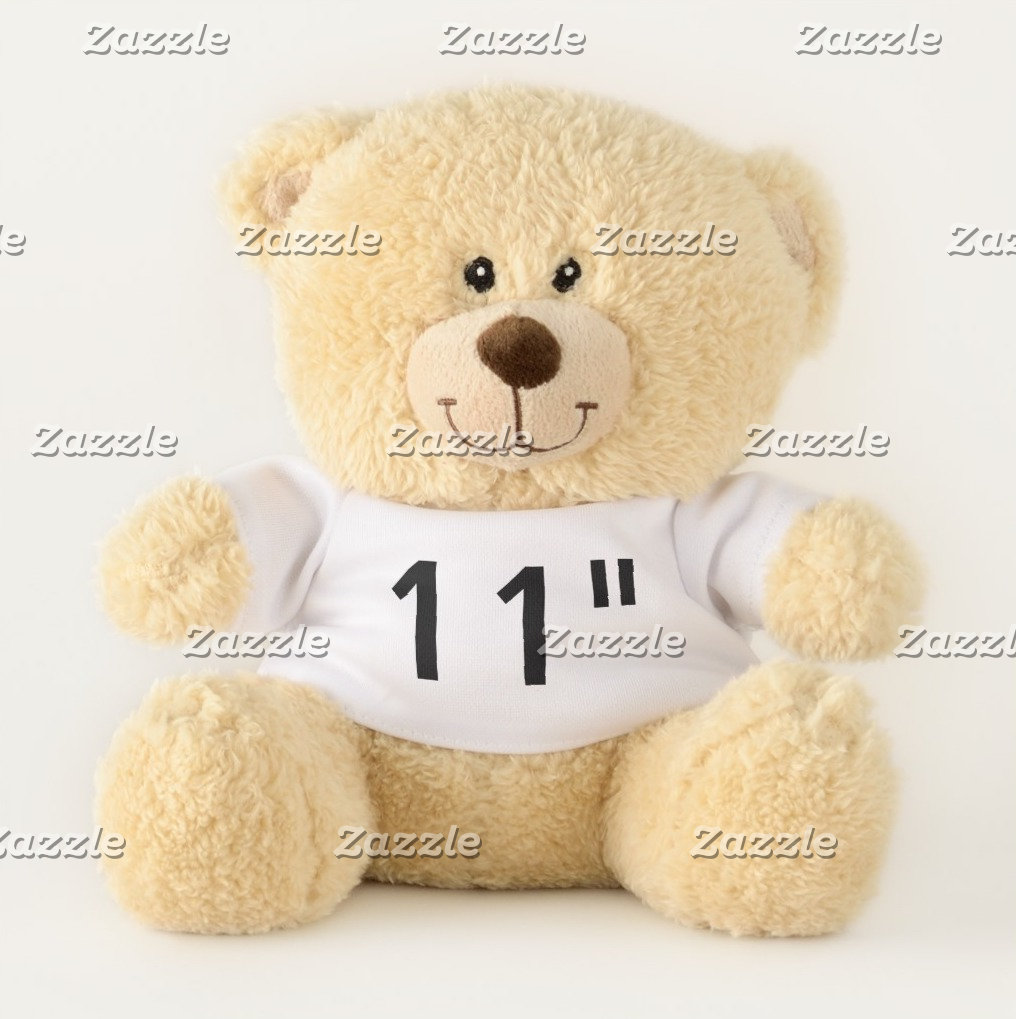 """11"""" Teddy Bears - Showing Favorite Quirky Fonts"""